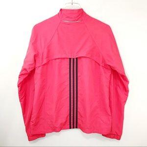 Adidas Lightweight Windbreaker Jacket Pink Medium